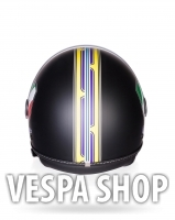 Vespa V-Strip fekete bukósisak