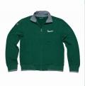 Cipzáras zöld férfi pulóver