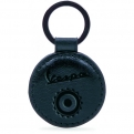Keyring leather, black