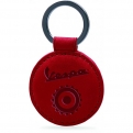 Keyring leather, red
