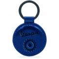 Bőr kulcstartó, kék színben