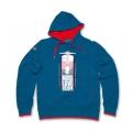 Vespa pulóver - férfi - kék kapucnis