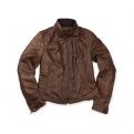 Vespa bőr kabát - női - barna