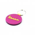 Kulcstartó gumis, fekete-pink