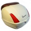 Krém színű Vespa GTV hátsó doboz (színkód: Sienna Avorio 552)