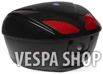 Fekete Piaggio Beverly  doboz (színkód: Nero Cosmo 98/A)